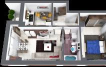 Apartament de vânzare cu 2 camere, Baza 3