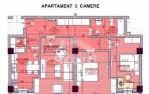 Apartament de vânzare cu 3 camere, Baza 3