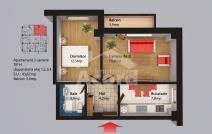 Apartament de vânzare cu 2 camere, Centru