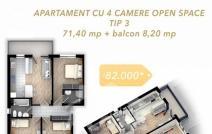 Apartament de vânzare cu 4 camere, Tatarasi