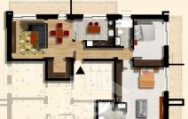 Apartament de vânzare cu 3 camere, Bucium